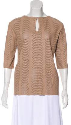 Drome Leather Mesh Top w/ Tags