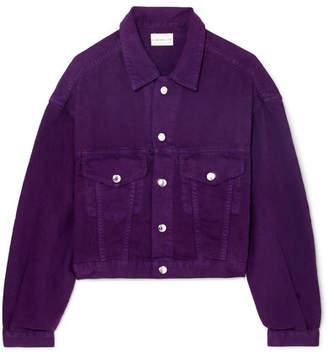 Simon Miller Cropped Denim Jacket - Purple