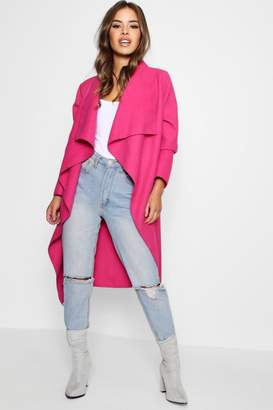 boohoo Petite Water Fall Coat
