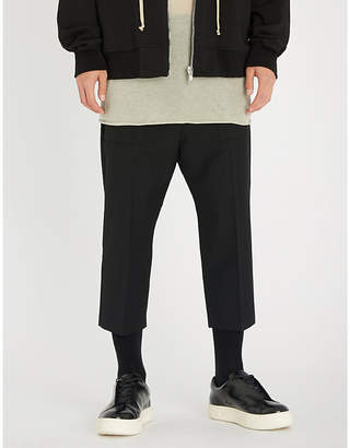 Rick Owens Cargo relaxed-fit dropped-crotch wool trousers