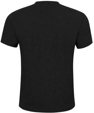 LinTimes Men Cotton Short Sleeve Pocket Slim Fit Henley T-shirt Color:Black Size:S