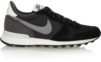 Nike Internationalist suede, leather and mesh sneakers $85 thestylecure.com