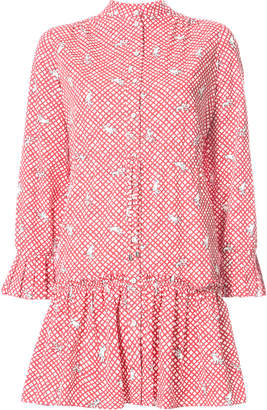 Saloni embroidered shirt dress