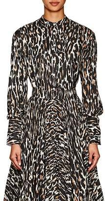 Calvin Klein Women's Leopard-Print Silk Blouse