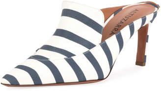 Altuzarra Davidson Striped Loafer Mules