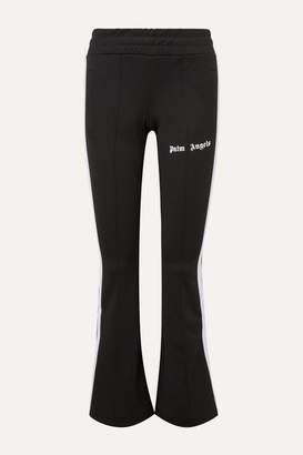 Palm Angels Striped Satin-jersey Track Pants - Black