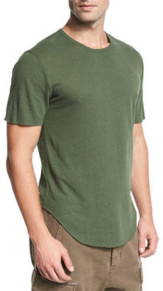 Vince Raw-Hem Crewneck T-Shirt $95 thestylecure.com