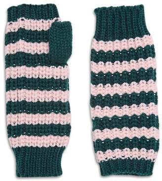 Forever 21 Striped Fingerless Gloves