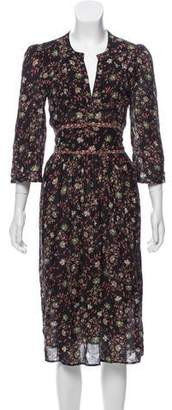 BA&SH Floral Midi Lady Dress