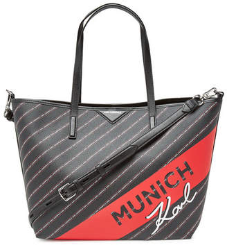 Karl Lagerfeld STYLEBOP.com Exclusive K/Cities Shopper with Leather