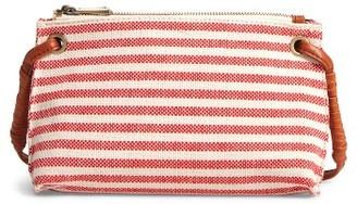 Sole Society Jax Stripe Fabric Crossbody Bag - Red $49.95 thestylecure.com