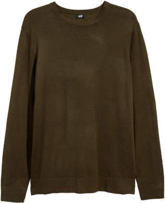H&M Fine-knit Sweater - Green