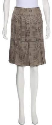 Hermes Piqué Sellier Pleated Skirt