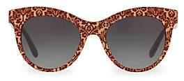 Dolce & Gabbana Women's DG4311 Glitter Floral 51MM Cat Eye Sunglasses