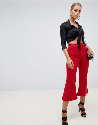 Missguided Cord Kick Flare Pants