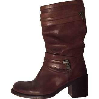 Free Lance Leather Biker Boots