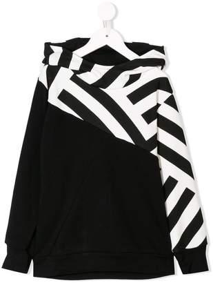 Nununu striped detail hoodie