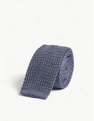 Corneliani Squared-off knitted silk tie