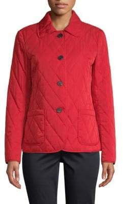 Lafayette 148 New York Spread Collar Quilted Jacket