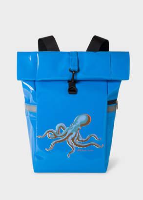Paul Smith Men's Light Blue 'Octopus' Print Roll-Top Backpack