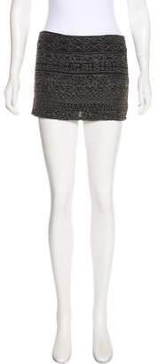 Gryphon Embellished Mini Skirt
