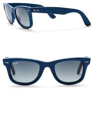 Ray-Ban Wayfarer 50mm Leather Sunglasses