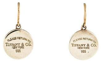 Tiffany & Co. Round Tag Drop Earrings