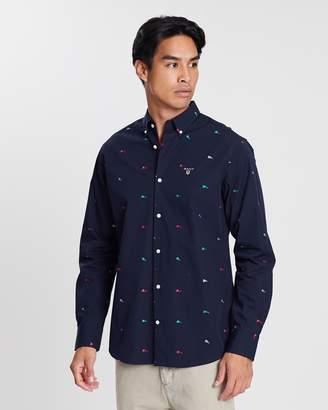 Gant Regular Fil-Coupé Flags Shirt