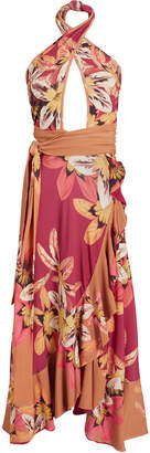 PatBO Carmen Floral Jersey Midi Dress