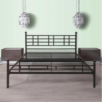 Best Price Mattress Easy Set-up Steel Platform Bed with Headboard, Twin