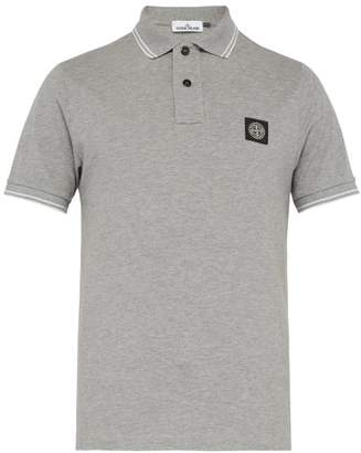 Stone Island Cotton Blend Polo Shirt - Mens - Grey