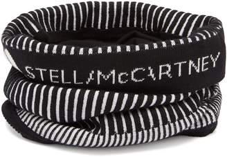 adidas by Stella McCartney Striped stretch-knit neck warmer