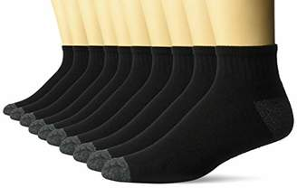 Amazon Essentials Men's 10-Pack Cotton Lightly Cushioned Ankle Socks