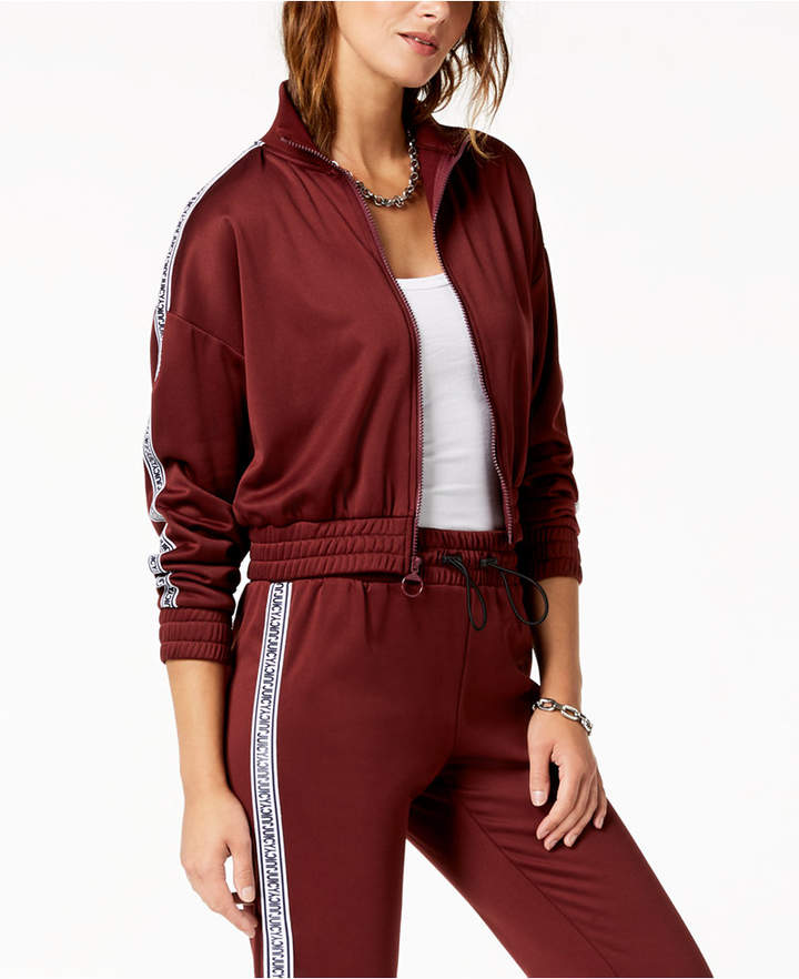 Juicy Couture Logo-Stripe Bomber Jacket
