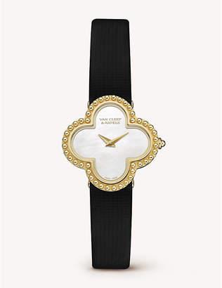 Van Cleef & Arpels Vintage Alhambra gold and mother-of-pearl watch