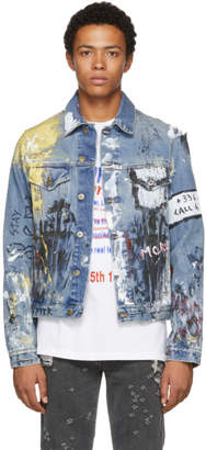 Faith Connexion Multicolor Tag Denim Jacket