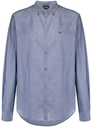 Emporio Armani micro-geometric pattern shirt