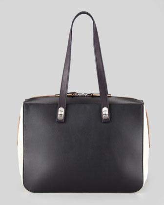 Marni Bi-Color Turn-Lock Strap Shoulder Bag