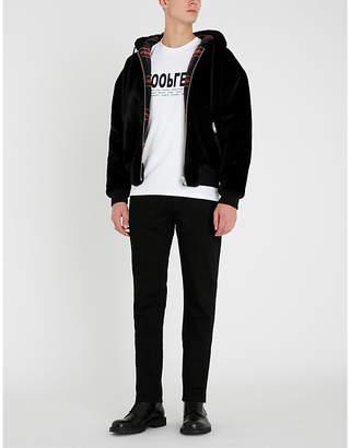 The Kooples Faux-fur hooded jacket