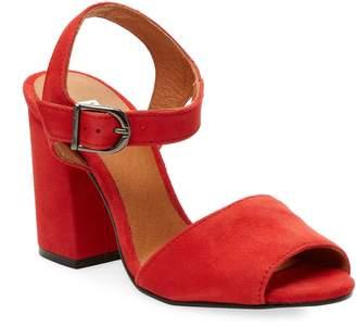 RENVY Women's Brocade Block Heel Sandals
