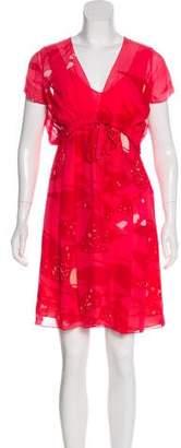 Celine Silk Printed Sleeveless Dress