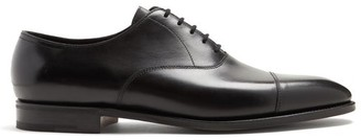 John Lobb City Ii Leather Oxford Shoes - Mens - Black