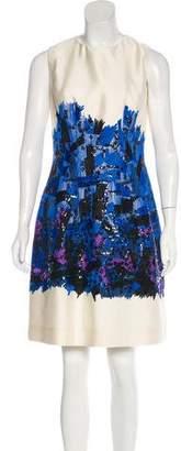 Lela Rose Embellished Mini Cocktail Dress