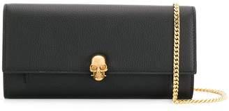 Alexander McQueen chain skull wallet