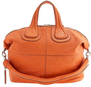 Givenchy Medium Textured Patent Nightingale - Orange