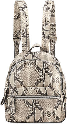 Jagger Kc Avery Snake-Print Leather Backpack