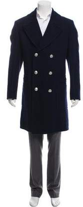 Hermes Wool & Linen-Blend Double-Breasted Coat