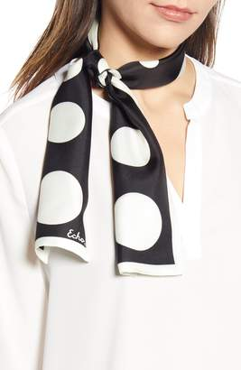 Echo Polka Dot Silk Scarf