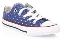 Converse Kid's Perforated Stars Denim Chuck Taylor Sneakers