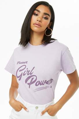 Forever 21 The Style Club Girl Power Graphic Tee